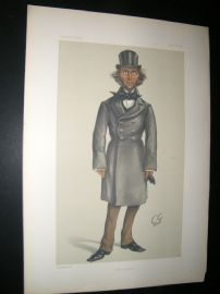 Vanity Fair Print 1879 Herbert Spencer, Cartoon